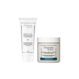 Exfoliantlavant purifiant au sel marin (250 ml) et crèmehydratantepour les cheveux (100 ml) deChristophe Robin