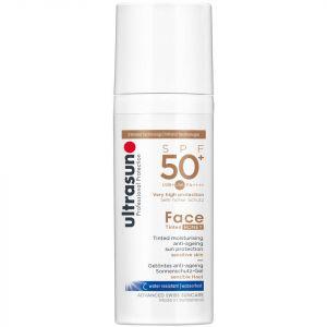 Crème solaire pour le visage teintée SPF50 de Ultrasun (différentes teintes) - Honey