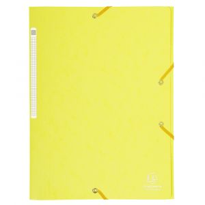 Lot de 25 chemises à élastiques - A4 - EXACOMPTA - Jaune citron - 17113H