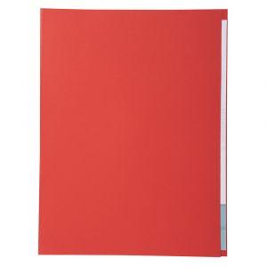 Lot de 5 paquets de 100 chemises Forever® 170 à bord décalé - 24 x 32 cm - EXACOMPTA - Rouge - 421012E