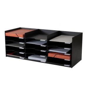 Bloc à cases - Compatible avec l'armoire EASYOFFICE - 15 cases 24x32 - Noir