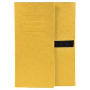 Lot de 10 chemises extensibles 3 rabats - 24 x 32 cm - EXACOMPTA - Jaune - 749E