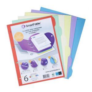 Chemise pack 6 thèmes pro 24x32 cm - SMART FOLDER - 6 couleurs