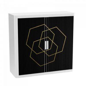 Armoire basse à rideaux - EASY OFFICE - H104xL110 cm - Polygone