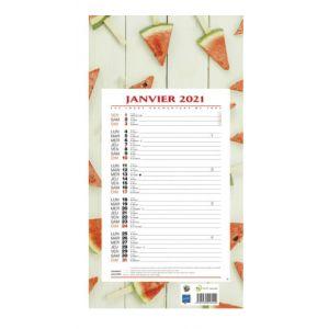 Calendrier éphéméride mensuel 2020 - BOUCHUT - 19 x 36 - Ambiance