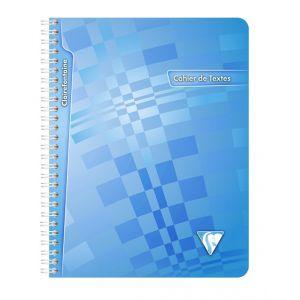 Cahier de Texte à spirale - CLAIREFONTAINE - 144 pages - 17x22 cm - Bleu