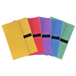 Lot de 10 chemises extensibles 3 rabats - 24 x 32 cm - EXACOMPTA - Coloris assortis- 740E