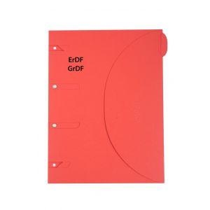 Chemise ERDF GRDF 24x32 cm - SMART FOLDER - Rouge