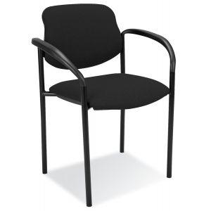 Chaise visiteur tissu - STYL ARM - Noir