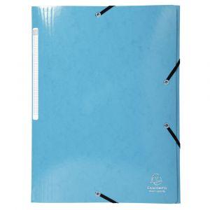 Lot de 25 chemises à élastiques 3 rabat Maxi Capacity Iderama A4 - EXACOMPTA - Bleu clair - 55927E