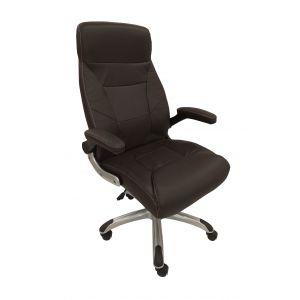fauteuil cuir marron roulettes comparer 24 offres. Black Bedroom Furniture Sets. Home Design Ideas