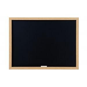 Tableau noir pour craie - BI OFFICE - 45x60cm - Contour chêne