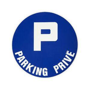 Plaque de signalisation parking privé - VISO - adhésif - D28 cm