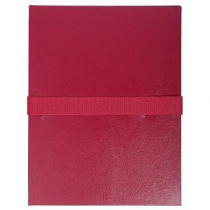 Lot de 10 chemises extensibles Balacron sans rabat - 24 x 32 cm - EXACOMPTA - Bordeaux - 2644E