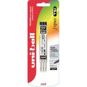 Lot de 3 recharges pour stylo bille Signo TSI - UNI-BALL - Noir