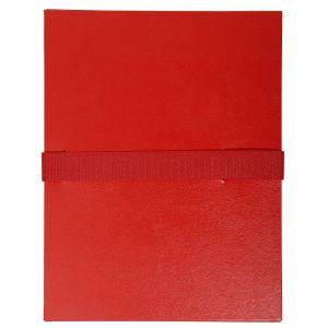 Lot de 10 chemises extensibles Balacron sans rabat - 24 x 32 cm - EXACOMPTA - Rouge - 2645E