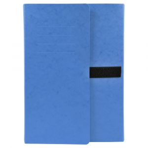 Lot de 10 chemises extensibles 3 rabats - 24 x 32 cm - EXACOMPTA - Bleu - 742E
