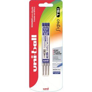 Lot de 3 recharges pour stylo bille Signo TSI - UNI-BALL - Bleu