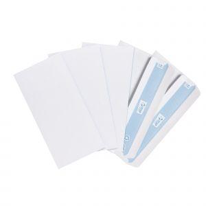 Boîte de 500 enveloppes blanches autocollantes - TOP OFFICE - DL - 110x220 mm - 80 g