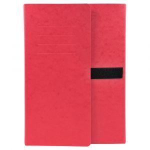 Lot de 10 chemises extensibles 3 rabats - 24 x 32 cm - EXACOMPTA - Rouge - 745E