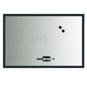 Tableau magnétique fond métal - BI OFFICE - 60x45 cm - Noir