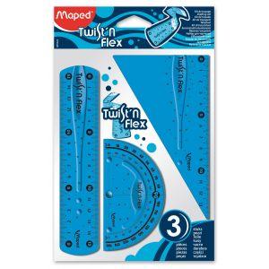 Kit de traçage Twist'n'flex - MAPED - 3 pièces - divers coloris