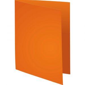 Lot de 5 paquets de 100 chemises Forever® 170 à bord décalé - 24 x 32 cm - EXACOMPTA - Orange - 421007E