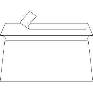 Lot de 50 enveloppes blanches Adhéclair - CLAIREFONTAINE - DL - 110x220 mm - 80g