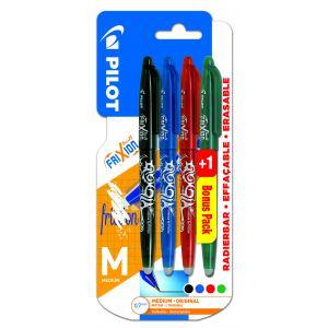 Lot de 3+1 stylos Frixion Ball - PILOT - 4 couleurs