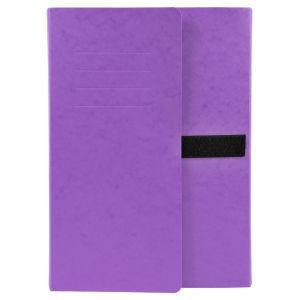 Lot de 10 chemises extensibles 3 rabats - 24 x 32 cm - EXACOMPTA - Violet - 746E
