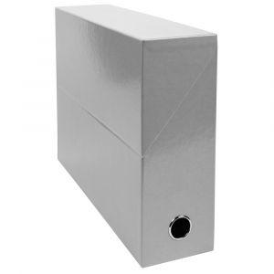 Lot de 5 boîtes à archive Iderama - EXACOMPTA - Gris - 89937E - Dos 90 mm