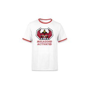 T-shirt Ringer Power Rangers Megazord Activated - Blanc/Rouge - Unisexe - XXL - Blanc