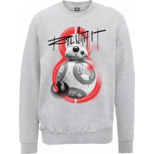 Sweat Homme Star Wars : Les Derniers Jedi BB8 Roll With IT - Gris - S - Gris