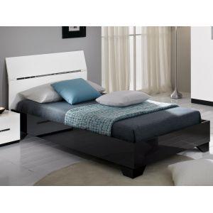 lit 90x190 laque blanc comparer 279 offres. Black Bedroom Furniture Sets. Home Design Ideas