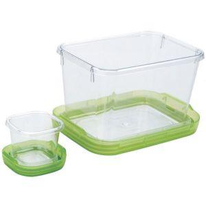 OXO 1265180 Lot de 2 boîtes alimentaires 1,3l et 60ml sans bpa vert