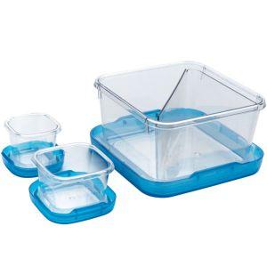 OXO 1265280 Lot de 3 boîtes alimentaires 1,4l, 0.12l et 60ml sans bpa bleu