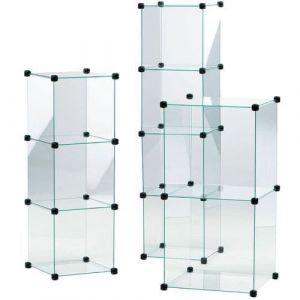 Vitrine en cubes Largeur:32,5 H:195,