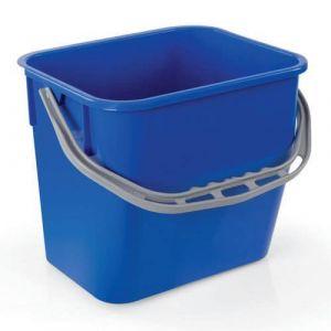 Seau en plastique bleu H:26.5 cm Cap.:12 L,