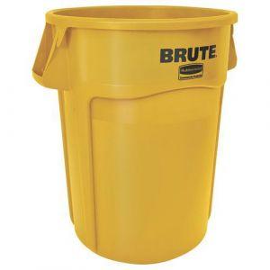 Conteneur Brute 167L avec aération- jaune,