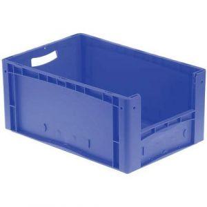 Bac 68l 1/2 Porte Fond+parois Pleins Bleu 600 X400x320mm