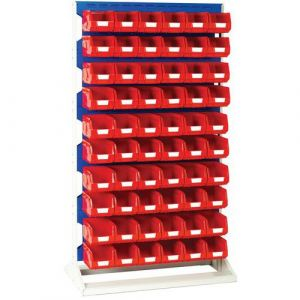 Rack a Bacs fixe H 1775 mm Double Faces + 120 Bacs N°3 rouge,