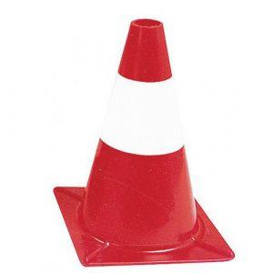 Cône de signalisation fluo 30cm Rouge/blanc,