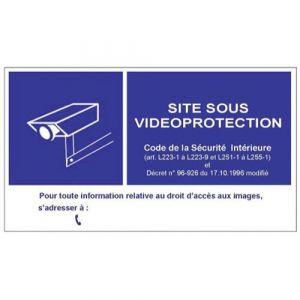 Panneau en PVC pour vitrine de signalisation de vidéosurv.,