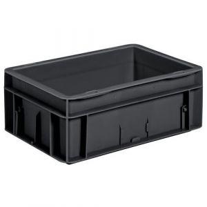 Bac 22L, recyclé noir LxlxH = 600x400 x120mm,
