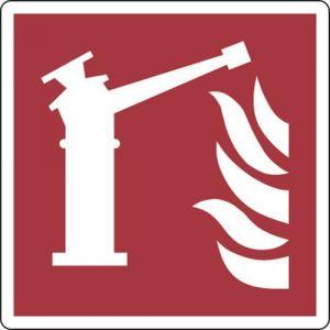 panneau 20 x 20 cm (borne incendie/lance d'incendie),