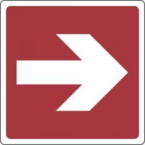 Panneau Flèche direction. vers la droite 120X120 - Adhésif,