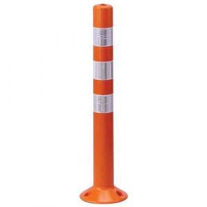 Poteau de signalisation à fixer Mottez Hauteur 80 cm,