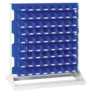 Rack a bacs Fixe H 1125 mm Double Faces avec 144 Bacs N,