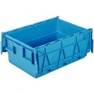 Bac de transport Integra bleu 46L - 600x400x250 mm,
