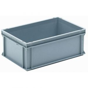 Bac 40L, parois pleines gris LxlxH = 60 0x400x220mm,